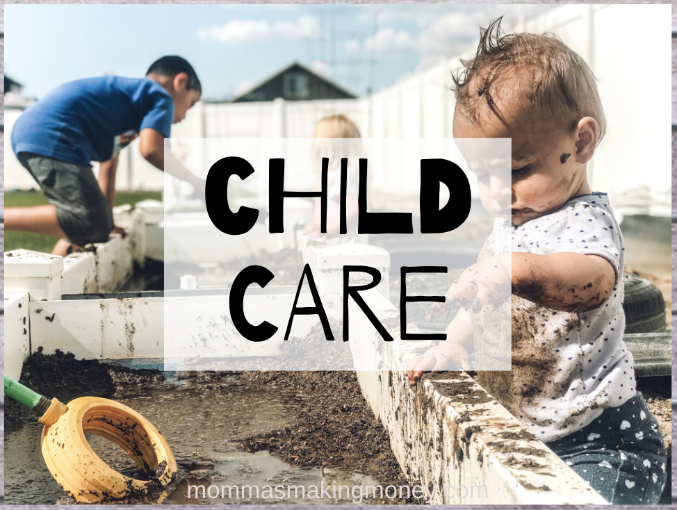 Playing in Mud Childcare for Stay at Home Mom Jobs