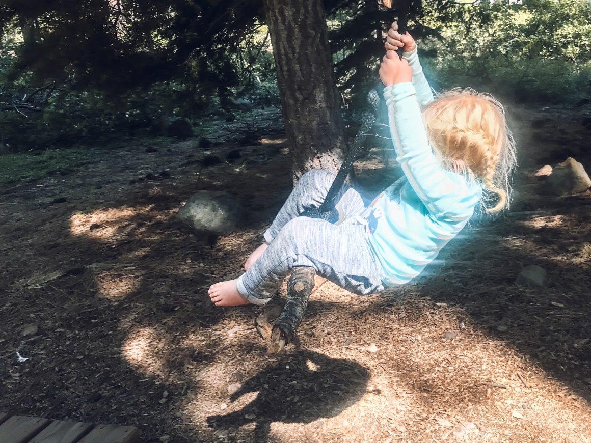 kid rope swinging